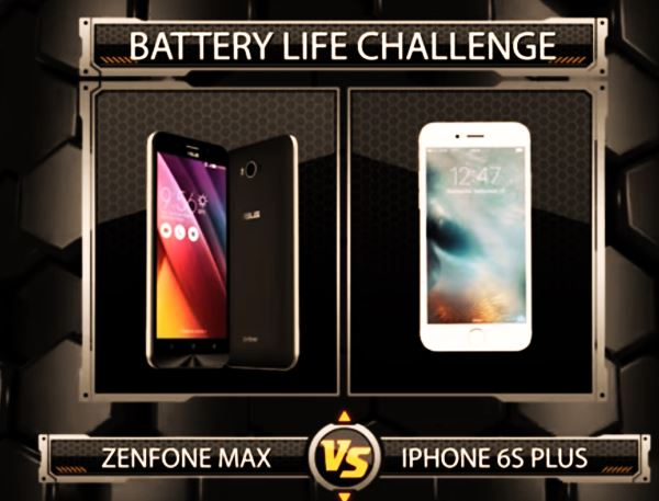 ZenFone Max vs iPhone S6 plus