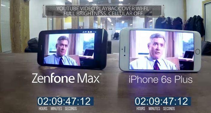 iPhone S6 Plus battery vs ZenFone Max battery