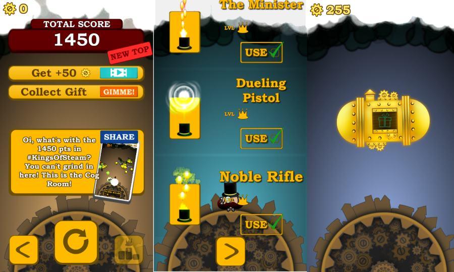 kings of steam game menu
