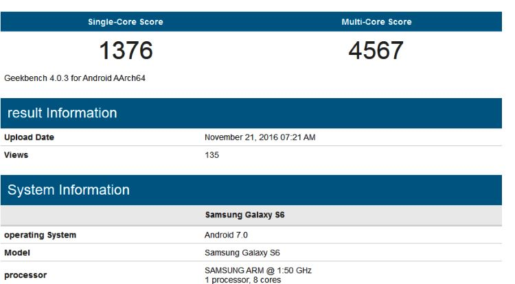 galaxy-s6-with-android-7-on-geekbench