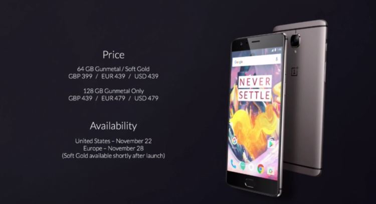 oneplus-3t-price-and-availability